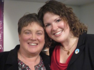 Robin Beck and Sen. Emily Cain