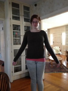 My first knitted sweater.